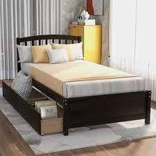 Merax Twin reversable bed frame No Headboard