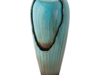 Alpine Corporation 32  Indoor Outdoor Jar Water Fountain  Turquoise