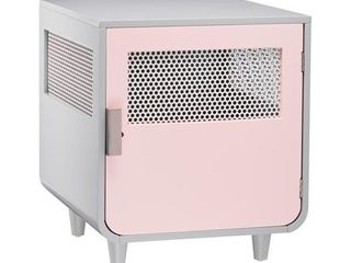 Staart   Radius Wooden Dog Crate   Chablis Pink   Small