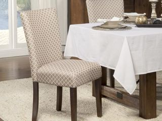 HomePop Parsons Dining Chairs  set of 2  Tan