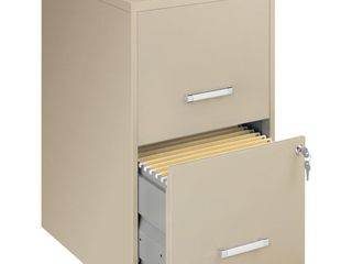 lorell 2 Drawers Vertical Steel lockable Filing Cabinet  Putty