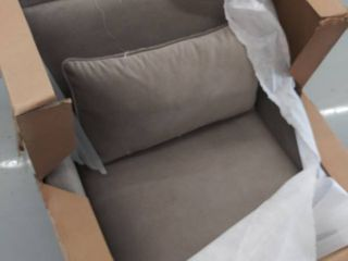 Martha Stewart Arm Accent Chair With light Grey Finish Mt100 0053
