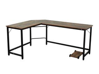 l shaped corner table wood grain color