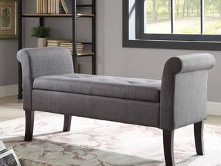 Ivy Charcoal Storage Bench  Retail 178 49