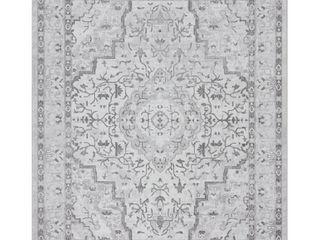 Tayse Rugs Nexus Gray 7 ft  10 in  x 10 ft  2 in  Indoor Area Rug