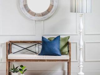 Meredith 49 W Fir Wood  Oatmeal linen Upholstery Bench   49 25 W x 30 H x 22 D