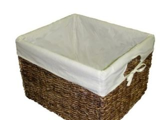 Handcrafted large Woven Maize Rectangular Storage Basket