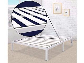 Best Price Mattress California King Bed Frame   14 Inch Metal Platform  White