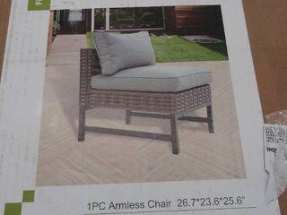 1 piece armless chair PF20712