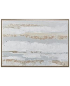 Madison Park Strato Natural Hand Embellishment Framed Canvas with Gold Foil  Retail 108 49