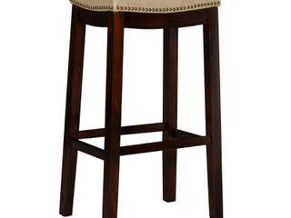 linon Claridge 32  Backless Wood Bar Stool  Multiple Colors