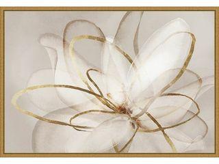 Transparent Beauty III  Floral  by Eva Watts Framed Canvas Art