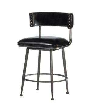 Hillsdale Kinsella Commercial Grade Swivel Counter Stool  Charcoal