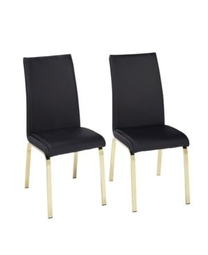 Set of 2 Uptown Dining Chair Black   Buylateral