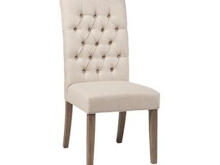Gadsden Tufted Back Dining Chairs Vineyard Oak  Set of 2