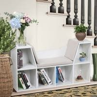 White  6 Cubby Kid Storage Cabinet Bookcase  Retail 132 49