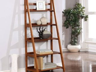 Meade Mid century Modern ladder Bookcase