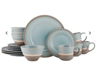 Pfaltzgraff Adina Blue 16 pc Dinnerware Set  Service for 4  Retail 81 99