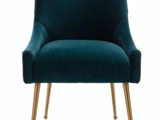 lake Green Velvet Upholstered Chair