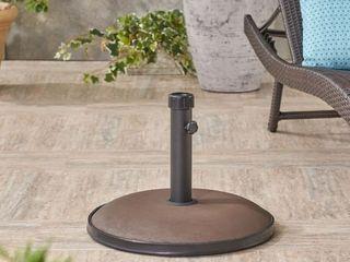 Tulare Outdoor 55 lbs Circular Concrete Umbrella Base by Christopher Knight Home