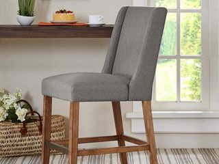 1 Madison Park Victor Grey Wing Counter Stool   19 w x 24 75 d x 41 5 h  Retail 199 99