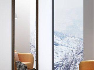 64 17x21 26   Sand Grey  Modern Freestanding Full length Floor Mirror  Retail 156 74