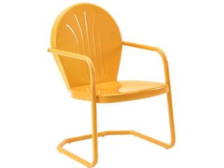 Crosley Furniture Griffith Metal Chair In Tangerine