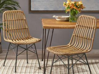 Silverdew Indoor Wicker Dining Chairs  Set Of 2