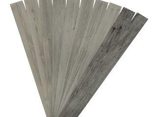 Rustic Grove Wood Planks  Mixed Gray Dark