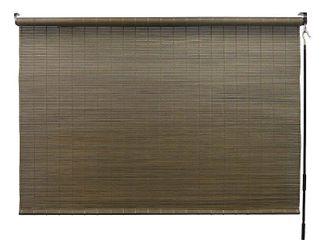 Radiance 72 x 96 Inch Crank Operated All Natural Bamboo Outdoor Sun Shade