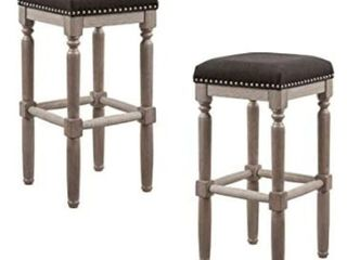 Madison Park Cirque Set of 2 Bar Stool with Gray Brown Finish MP104 1056