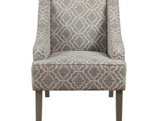 Porch   Den Bohmann Ash Geometric Classic Swoop Arm Chair  Retail 174 49