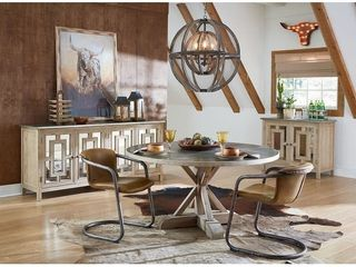Chiavari Set of Two Distressed leather Dining Chairs   Set of 2   Chestnut