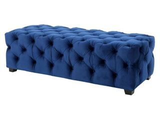 Piper Tufted Velvet Rectangle Ottoman Bench by Christopher Knight Home  Retail 215 49