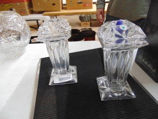 Pair of Partylite Crystal Candle Holders