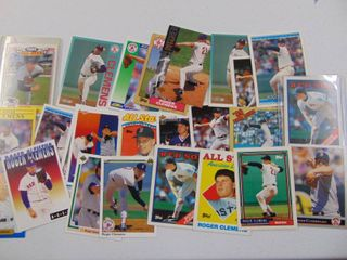 Roger Clemens Baseball Card lot of 25
