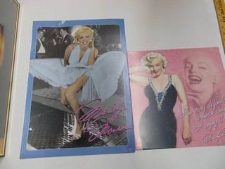Pair of Metal Marilyn Monroe Signs