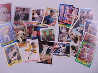Barry Bonds baseball cards lot of 25