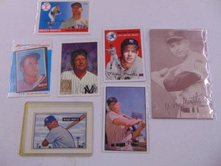 Mickey Mantle Baseball Card lot of 7