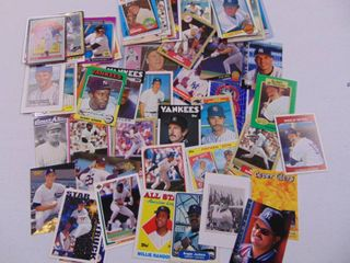 Vintage New York Yankees baseball card lot of 66