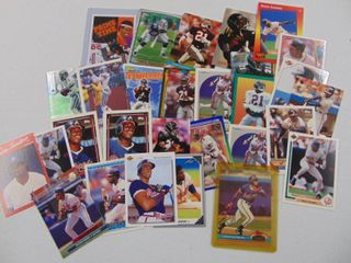 Deion Sanders Baseball football card lot of 30