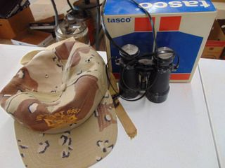 Binoculars  Military Hat  and More