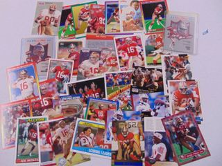 Jerry Rice   Joe Montana Footall Card lot of 35