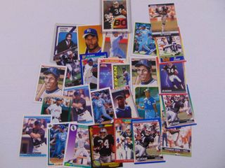 Bo Jackson Baseball  Football card lot of 27
