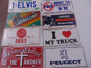 Selection of Novelty license Tags