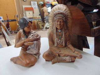2 Ceramic Indian Figurines