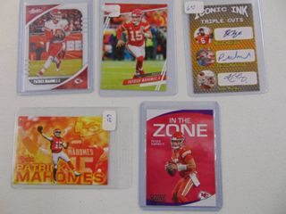 Patrick Mahomes   lot of 5 football cards