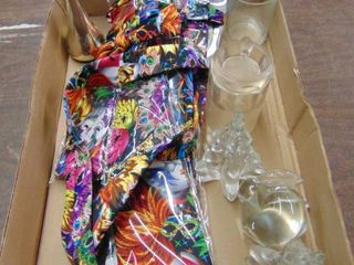 Mardi Gras Ties and Glass Decor Pieces
