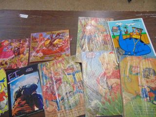 Vintage childrens puzzles and games