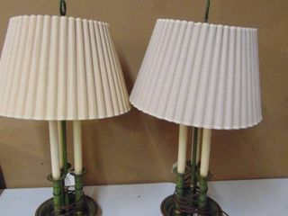 Pair of Green Table lamps